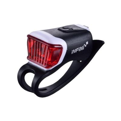 INFINI ORCA I-204R 鯨魚USB充電式紅光警示燈 黑