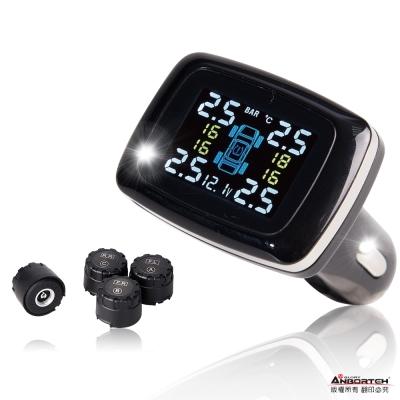 【安伯特】四輪保鑣 無線胎壓偵測器 胎外式 TPMS 胎壓 胎溫 電瓶電壓-急速配