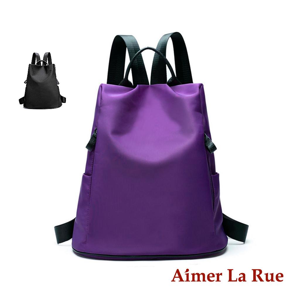 Aimer La Rue 率性輕盈牛皮尼龍後背包(共二色)