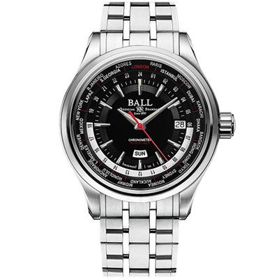 BALL 波爾錶 Engineer Master II 世界時間機械腕錶-鋼帶/45mm