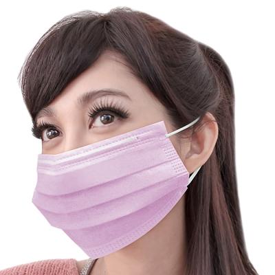 台灣康匠-三層不織布口罩50個X1盒(粉)