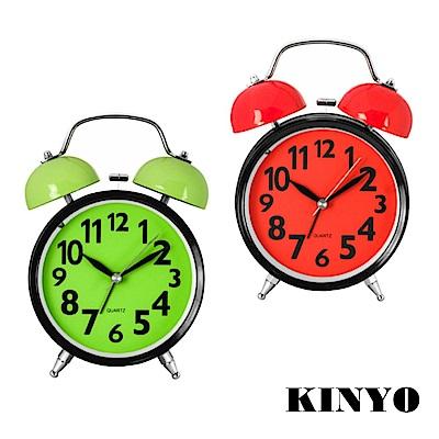 KINYO 大型貪睡雙鈴聲靜音掃描鬧鐘(TB-705)
