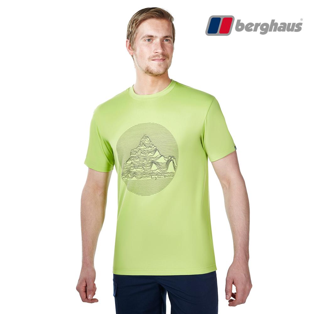 【Berghaus貝豪斯】男款銀離子除臭抗菌吸濕快乾抗UV上衣S04M91青綠