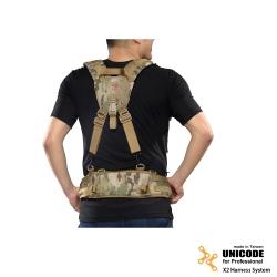 UNICODE X2 Harness System 通用雙肩腰封負重系統-多地型迷彩