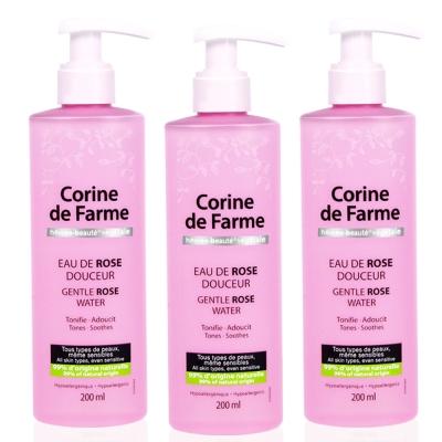 法國黎之芙 玫瑰極淨嫩白化妝水200ml三入
