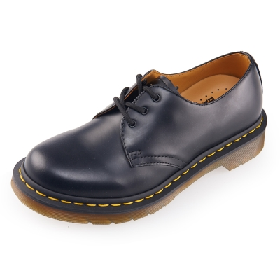 (女)Dr.Martens  1461 W 經典 3 孔馬汀鞋-黑色