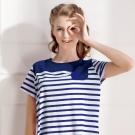 羅絲美睡衣 - 奇幻旅行短袖洋裝睡衣小口袋款 (活力藍)
