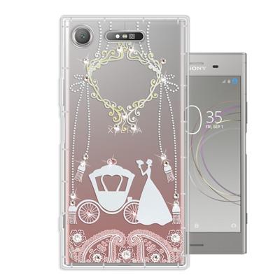WT SONY Xperia XZ1 奧地利水晶彩繪空壓手機殼(精靈捧花)