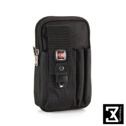 74盎司 十字個性手機腰掛包[N-452]黑