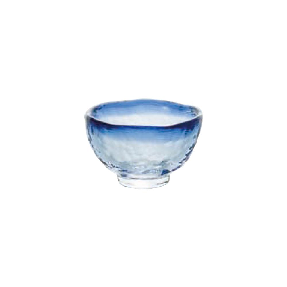 日本ADERIA津輕 耐熱清酒杯40ml-藍