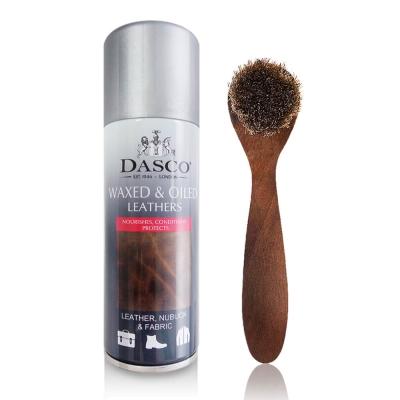 足的美形 英國Dasco油皮養護劑+鞋刷組