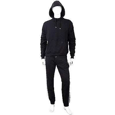 Versus Versace 撞色字母黑色連帽運動休閒套裝