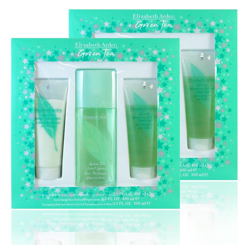 Elizabeth Arden 雅頓綠茶香氛雪花禮盒(100ml三件組)*2盒