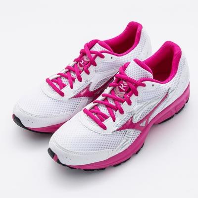 MIZUNO-女慢跑鞋K1GA150459-白桃紅