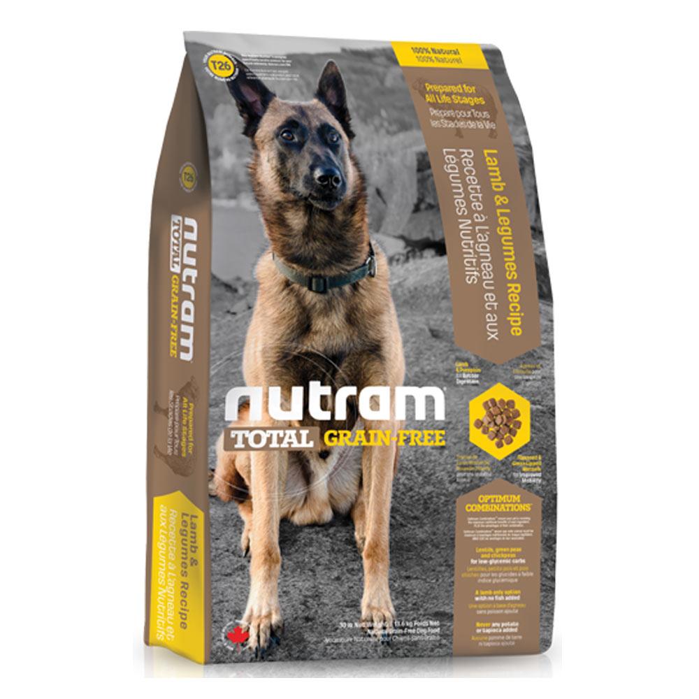 Nutram紐頓 T26無穀潔牙犬 羊肉配方 犬糧 2.72公斤