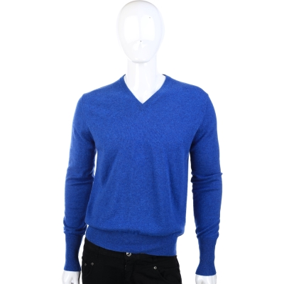 BALLANTYNE 藍色V領針織長袖上衣(100%CASHMERE)