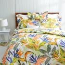 Cozy inn 天堂-綠 300織精梳棉四件式被套床包組(特大)