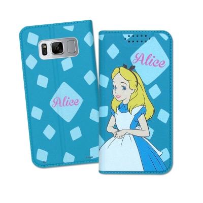 迪士尼正版 Samsung Galaxy S8+ 印花系列彩繪皮套(愛麗絲)