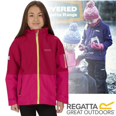 【REGATTA】兒童 超反光防水透氣防風保暖二件式外套_玫瑰紅
