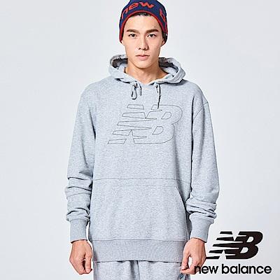 New Balance LOGO連帽長袖上衣AMT81557AG中性淺灰