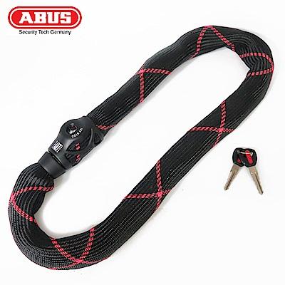 ABUS德國防盜鎖 9100 Steel-O-Chain Ivy高防護鑰匙鎖-黑紅條