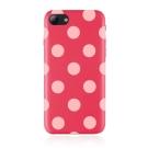 JTLEGEND iPhone 8 Plus Polka 設計師款合成皮革背蓋