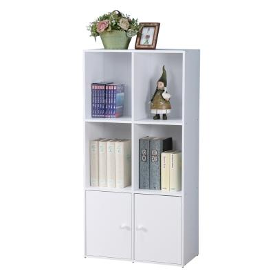Homelike 現代風三層二門置物櫃(三色)
