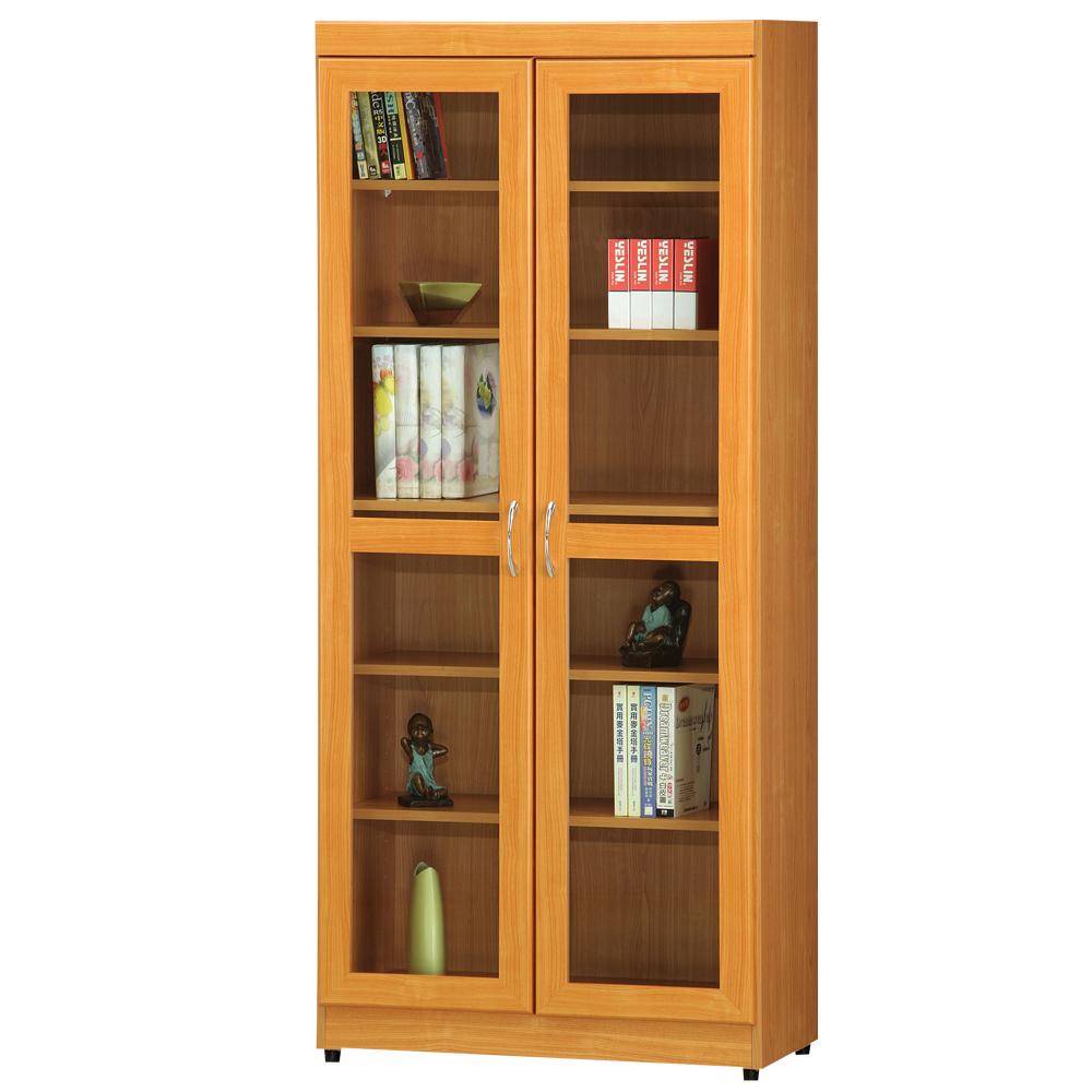 時尚屋 豪豐2.6x6尺玻璃門書櫃 寬80cm 多色可選-免組