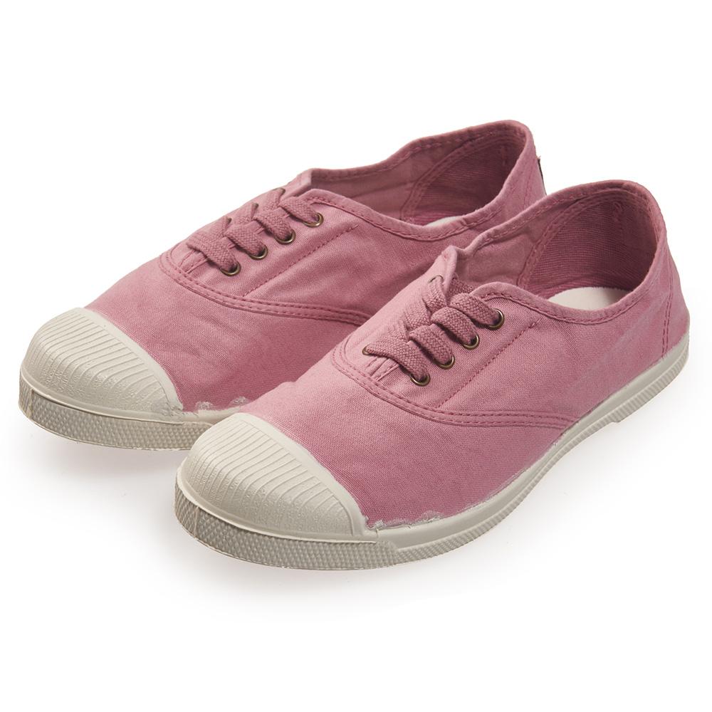 (女)Natural World 西班牙休閒鞋 素面4孔基本款*粉色