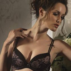 花都璀璨-希臘女神-B-D罩成套內衣-迷戀黑
