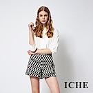 ICHE 衣哲 時尚立體浮雕拼接俐落造型褲裙