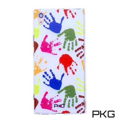 PKG SONY XA1-Ultra 彩繪空壓氣囊保護殼-浮雕彩繪-繽紛手掌