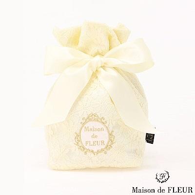 Maison de FLEUR 蕾絲花邊綁帶束口包