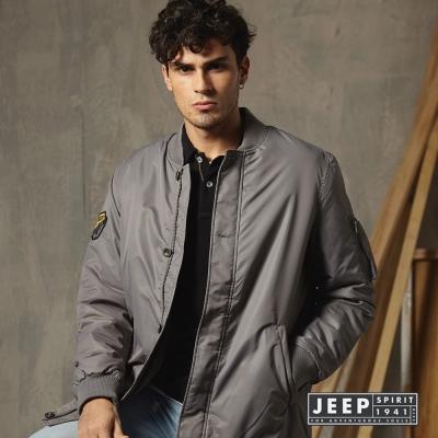 JEEP-長版MA-1飛行夾克-灰色