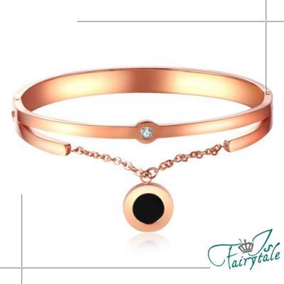 iSFairytale伊飾童話 后冠加冕 玫瑰金垂墬手環