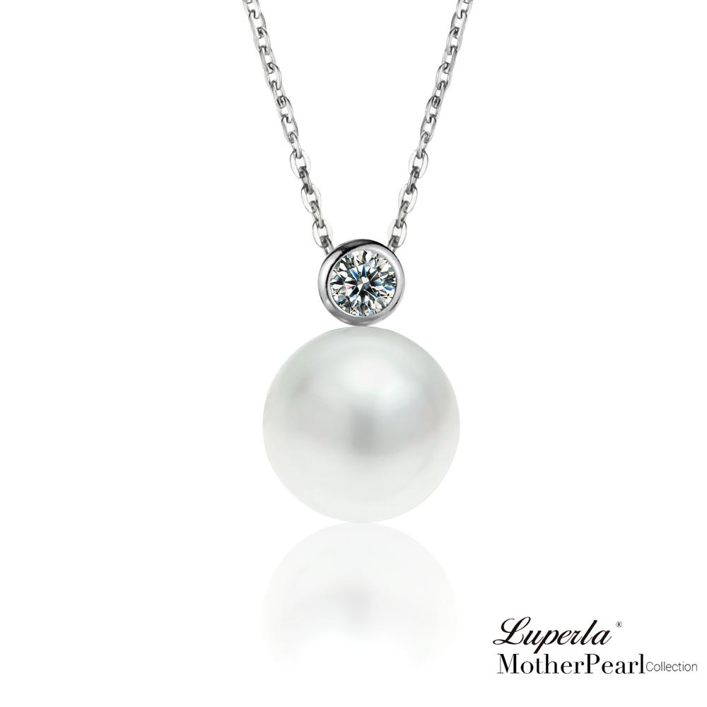 大東山珠寶 南洋貝寶珠純銀晶鑽項鍊 鑽石女伶