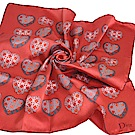 Dior 義大利製品牌LOGO 愛心造型絲巾/領巾(珊瑚紅色)