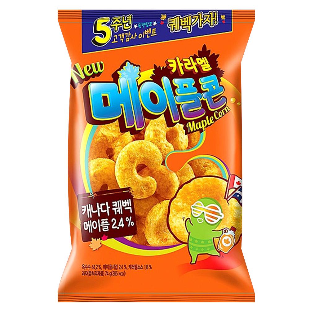 韓國Crown 楓糖脆果(74g)