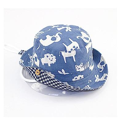 動物派對春夏兒童盆帽