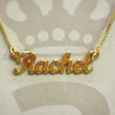 Anna Lou Of London 倫敦品牌 RACHEL 英文名字金色項鍊