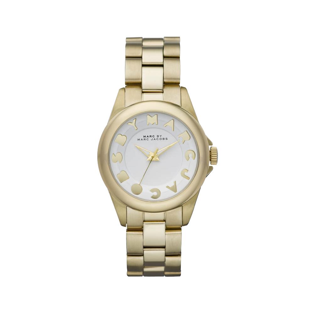 Marc Jacobs 閃電玩家復刻腕錶-白/金/36mm