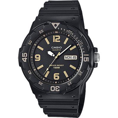 CASIO 卡西歐 DIVER LOOK 潛水運動風手錶-黑/47.9mm