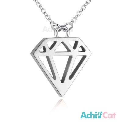 AchiCat 珠寶白鋼項鍊 簡愛 鑽石(銀色)