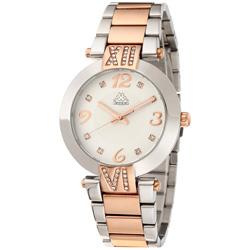 Kappa 低調奢華不鏽鋼時尚腕錶-白x玫瑰金/40mm