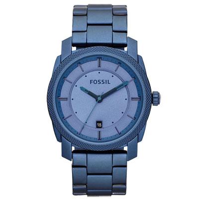 FOSSIL 型男日誌都會時尚腕錶(藍)/45mm