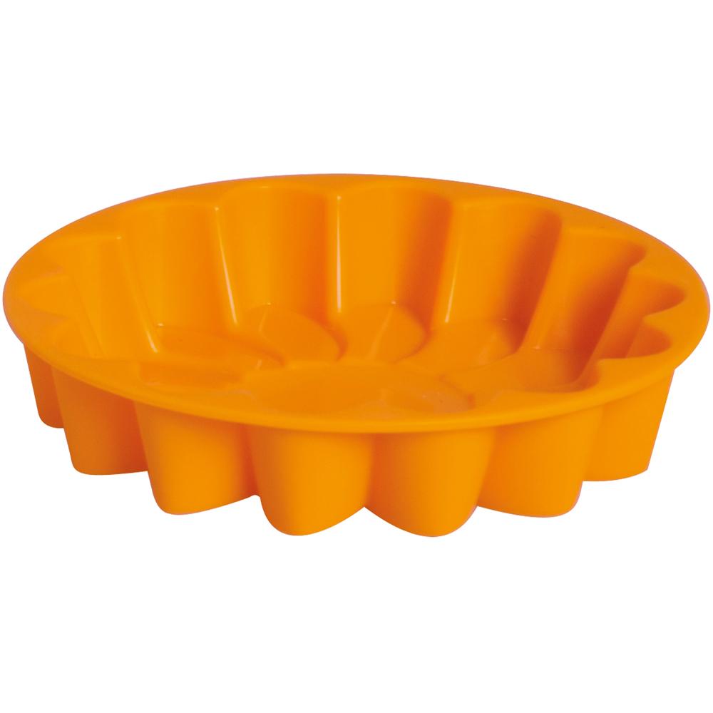 EXCELSA Sweet矽膠花型蛋糕模(橘11cm)