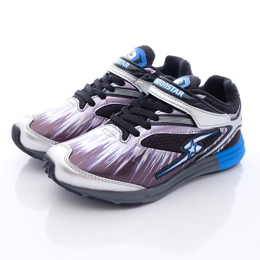 日本月星頂級競速童鞋-爆彈糸列-JSE101銀(中大童段)T1