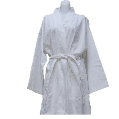 法式寢飾花季 純品良織-高質感簡約時尚華菱格浴袍