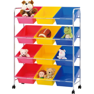 IKLOO宜酷屋 可移式12格玩具收納組