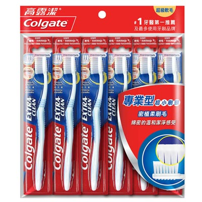 高露潔專業型超小刷頭牙刷 6入